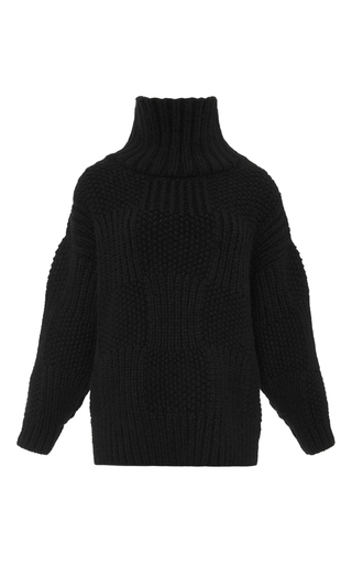 Medium vilshenko black svetlana wool sweater