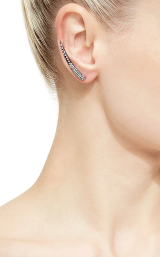 Tina Collection Diamond Black Gold Long Earrings by AS29 Now Available on Moda Operandi