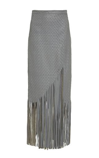 Handwoven Fringed Leather Haiiro Skirt by JOHANNA ORTIZ Now Available on Moda Operandi