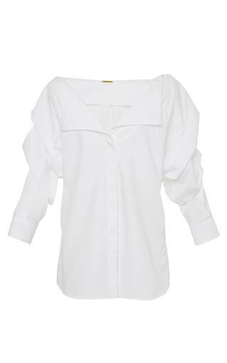 White Cotton Kasuma Shirt by JOHANNA ORTIZ Now Available on Moda Operandi