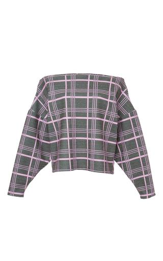 Check Off The Shoulder Misori Top by JOHANNA ORTIZ Now Available on Moda Operandi