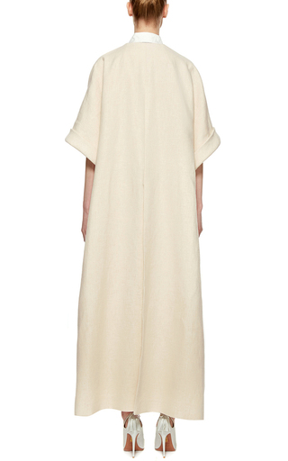 Toasted Ivory Double Sided Canvas Coat by DELPOZO Now Available on Moda Operandi