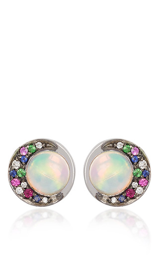 Medium noor fares multi eclipse opal studs