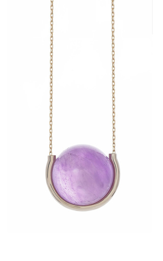 Medium noor fares gold divina amethyst pendant