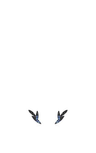 Bamboo Short Stud Earrings by AS29 for Preorder on Moda Operandi