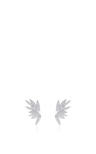 Bamboo Full Stud Earrings by AS29 for Preorder on Moda Operandi
