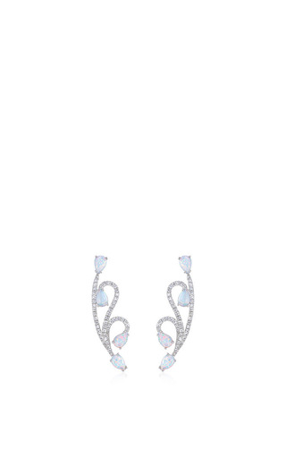 Lucy Short Opal Earrings by AS29 for Preorder on Moda Operandi