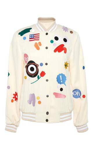 Medium mira mikati white cream darcel bomber jacket