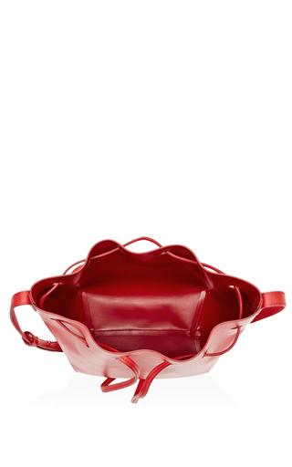 Calf Leather Mini Bucket Bag In Flamma With Flamma Interior by MANSUR GAVRIEL Now Available on Moda Operandi