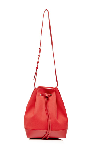 Medium mansur gavriel multi canvas bucket bag in flamma with ballerina interior 2