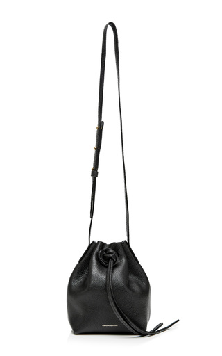 Tumble Leather Mini Mini Bag In Black by MANSUR GAVRIEL Now Available on Moda Operandi