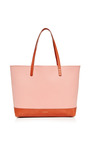 Large Canvas Tote In Blush With Moss Interior by MANSUR GAVRIEL Now Available on Moda Operandi