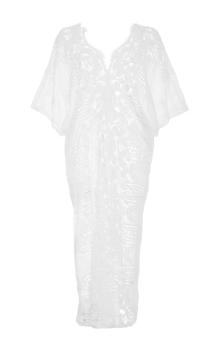 Kate Embroidered Cap Sleeve Tunic by MIGUELINA Now Available on Moda Operandi