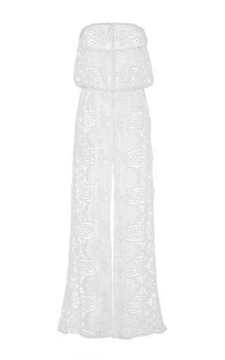 Medium miguelina white piper strapless jumpsuit