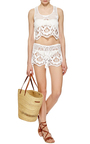 Minnie Embroidered Shorts by MIGUELINA Now Available on Moda Operandi