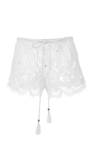 Medium miguelina white minnie shorts