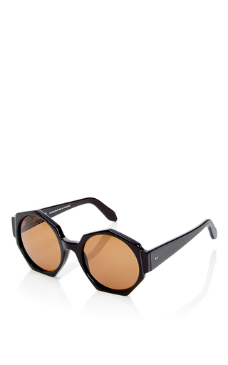 Ortolan Oversized Black Sunglasses by ZANZAN Now Available on Moda Operandi