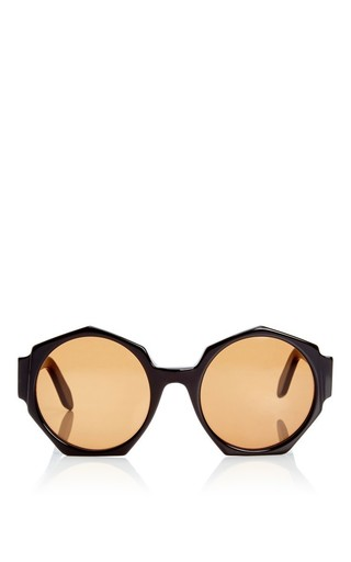 Medium zanzan black ortolan oversized sunglasses