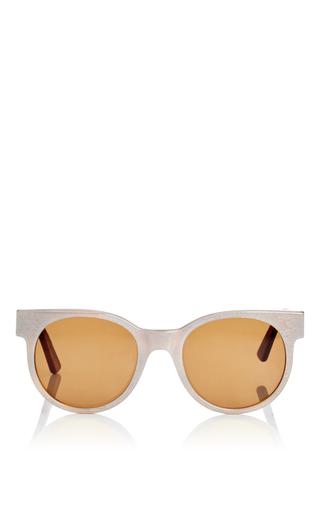 Medium zanzan white avida dollars oversized sunglasses
