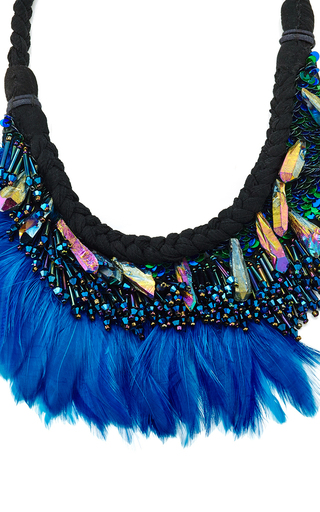 Najlah Silk And Feather Beaded Necklace by MIGNONNE GAVIGAN Now Available on Moda Operandi
