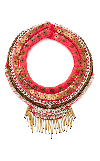 Petite Layne Beaded Coral Silk Necklace by MIGNONNE GAVIGAN Now Available on Moda Operandi