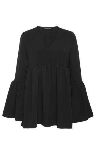 Medium kalmanovich black bell sleeve silk top
