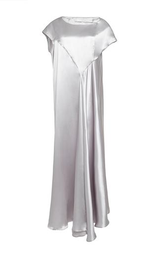 Medium perret schaad silver tobi silk satin dress