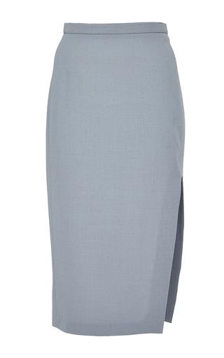 Medium perret schaad blue ethan wool georgette skirt