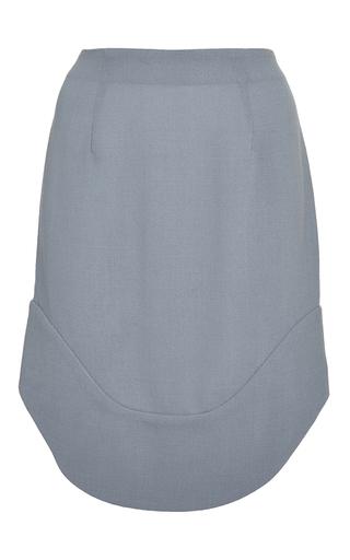 Medium perret schaad blue hoya wool georgette skirt