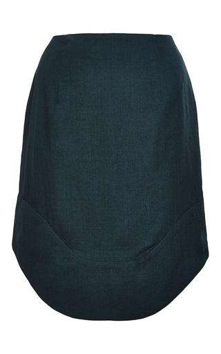 Medium perret schaad green hoya virgin wool skirt