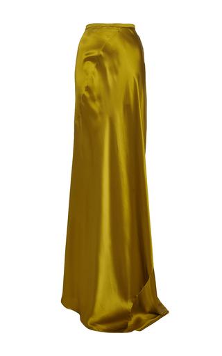 Medium perret schaad gold bene silk satin skirt