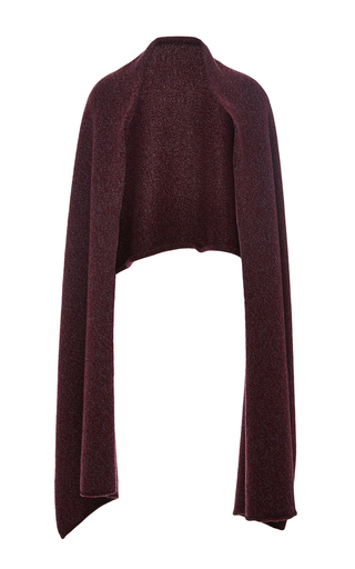 Medium perret schaad burgundy bordeaux melange cam scarf