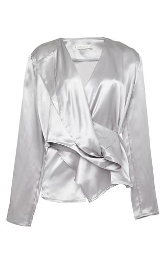 Medium perret schaad silver nicolai silk satin blouse