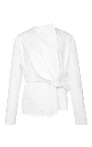 Medium perret schaad white nicolai cotton blouse