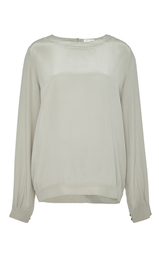 Medium perret schaad dark grey ruwen blouse