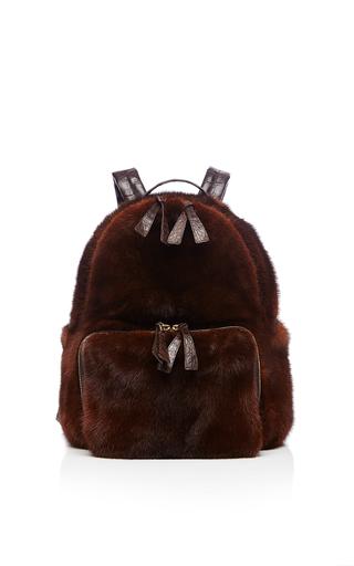 Medium nancy gonzalez brown chocolate brown mink backpack
