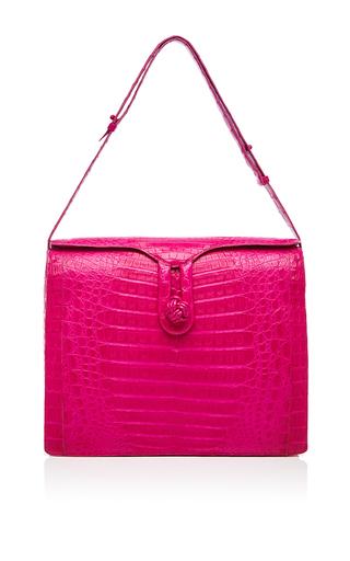 Medium nancy gonzalez pink electric pink crocodile shoulder bag