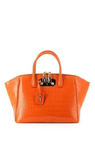 Medium vbh orange brera 32cm top handle bag