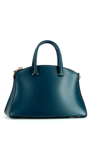 Medium vbh blue trevi 36cm in blue calf leather