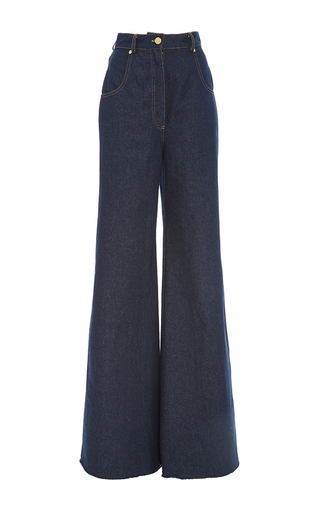 Medium natasha zinko blue daisy embroidery jeans