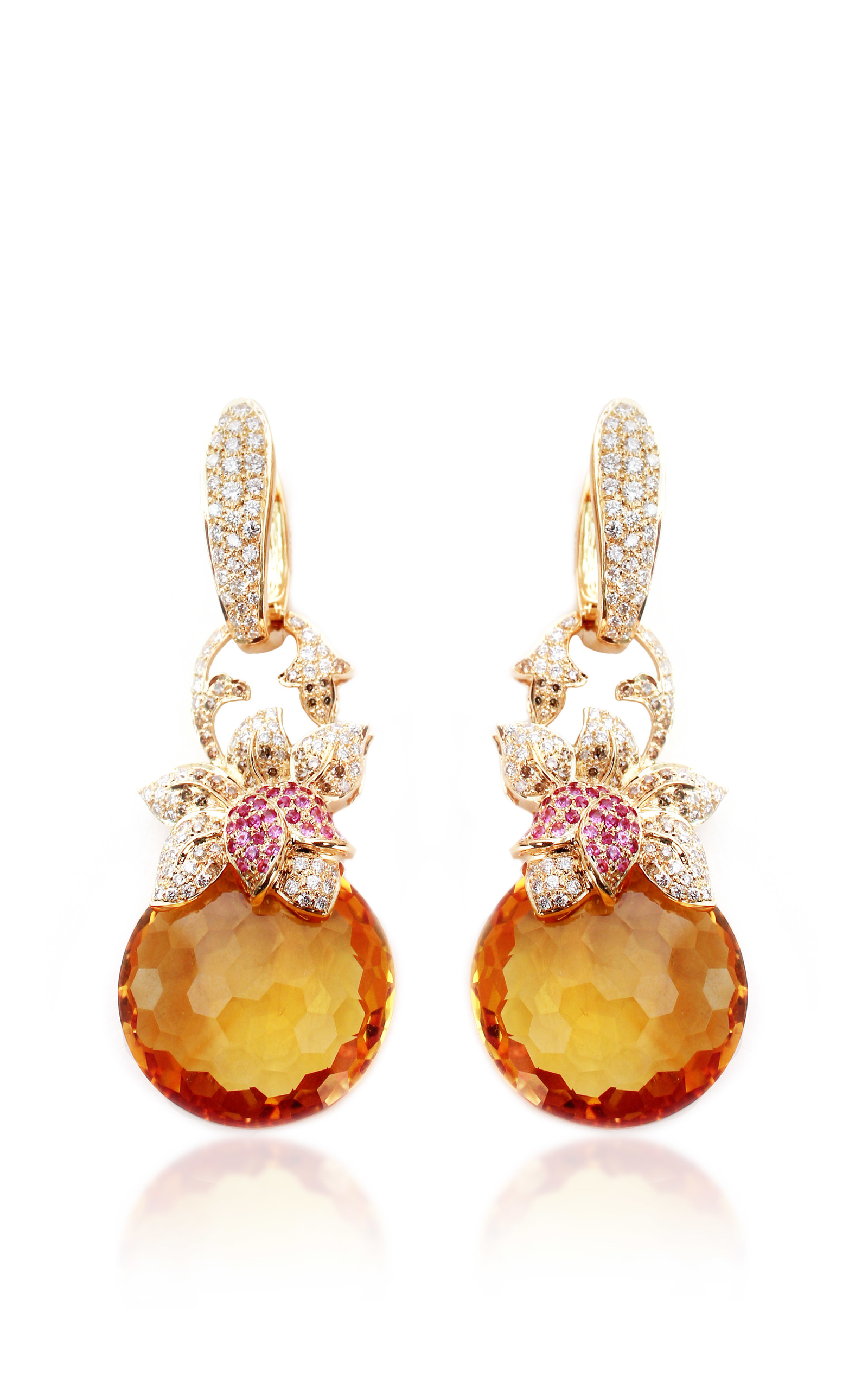 Citrine and diamond earrings by farah khan fine moda for Fine jewelry diamond pendants
