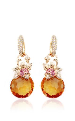 Medium farah khan fine jewelry multi citrine and diamond earrings