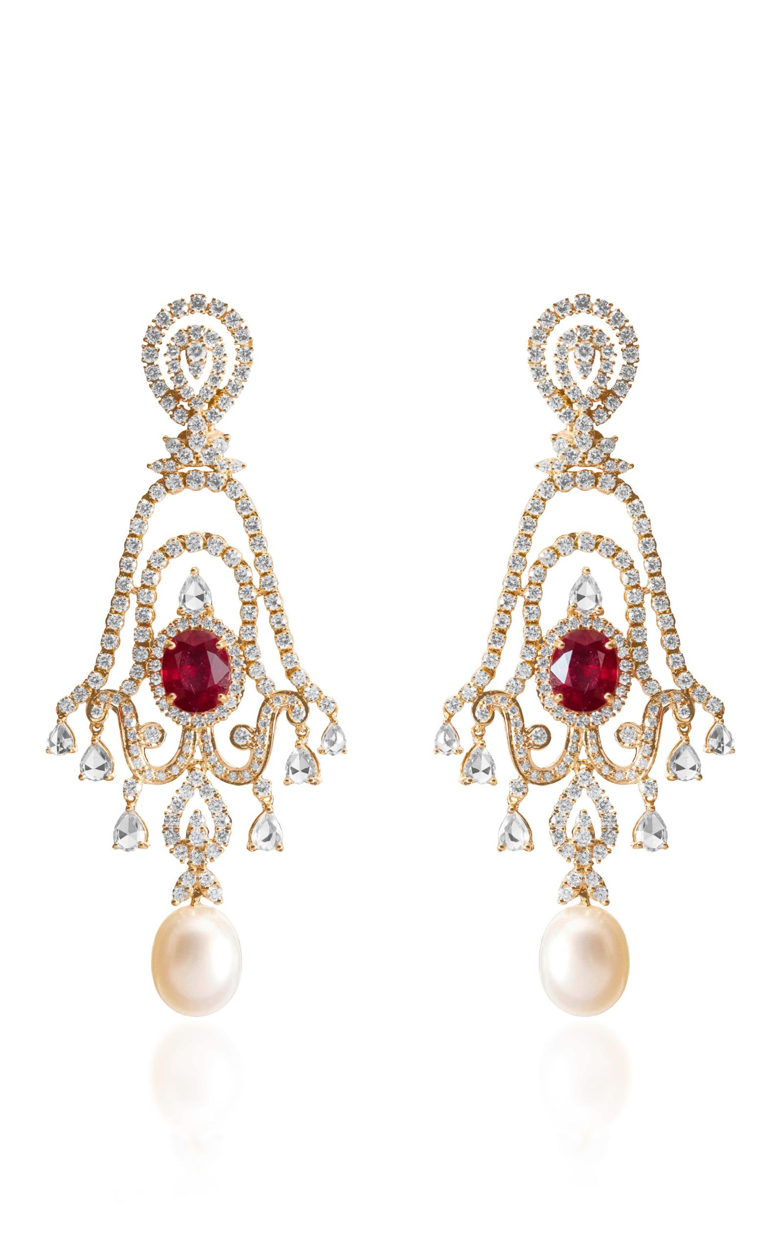 Scarlet Earring By Farah Khan Fine Jewelry Moda Operandi