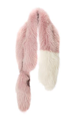 Medium marni pink powder rose fox fur stole