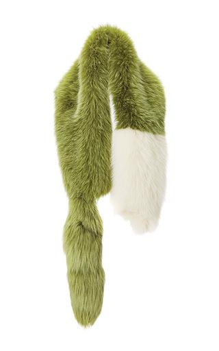 Medium marni green lime fox fur stole