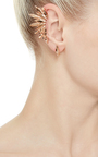 Metallic Rose Gold Ear Cuff by RYAN STORER Now Available on Moda Operandi
