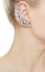 Oxidized Silver And Swarovski Ear Cuff by RYAN STORER Now Available on Moda Operandi