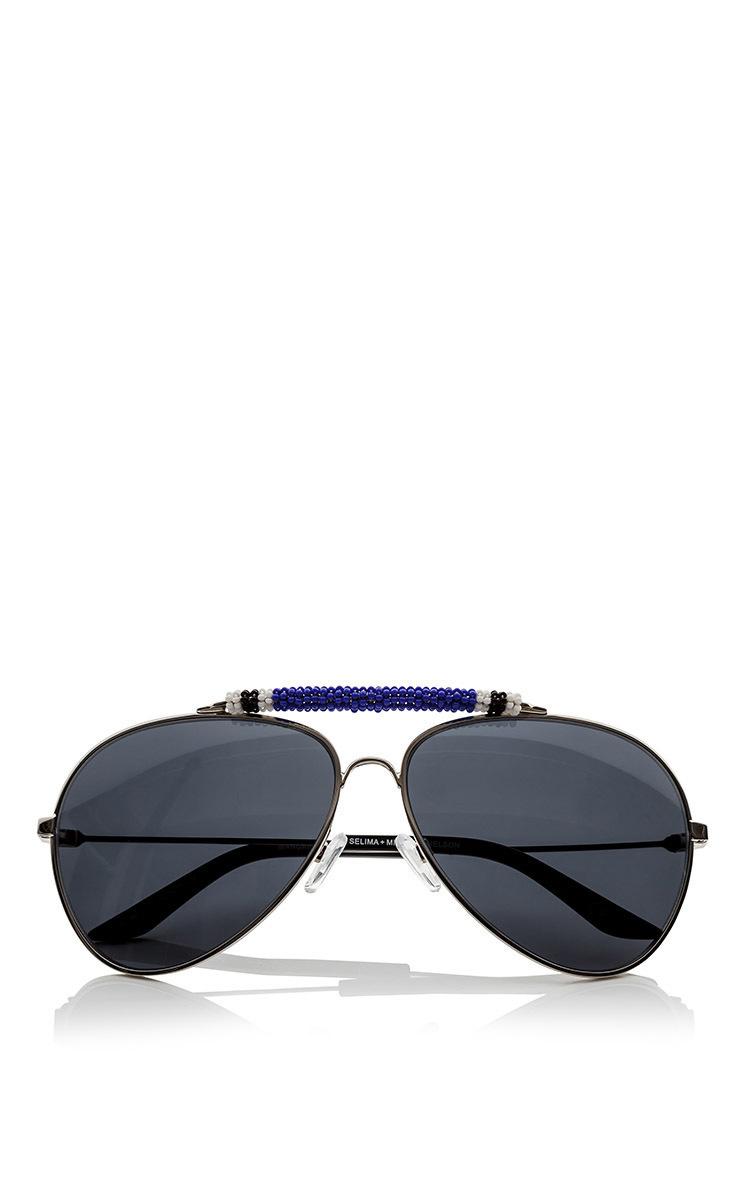 moda operandi michael nelson wangari silver frames with blue and - Michael Frames