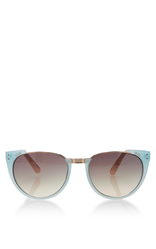 Medium linda farrow multi linda farrow matt iris matt milk pink grey grad sunglasses