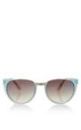 Gradient Sunglasses In Matte Blue by LINDA FARROW Now Available on Moda Operandi